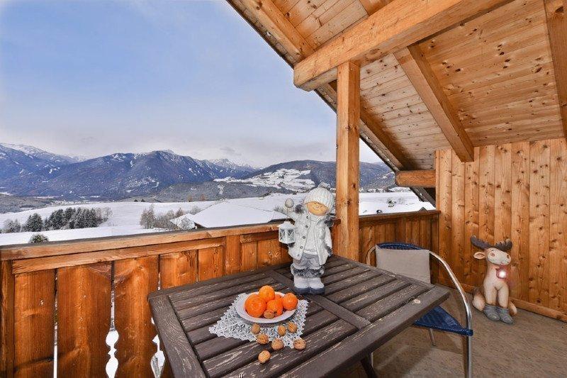 APPARTAMENTO N. 3 (vista dal balcone sul paesaggio invernale)
